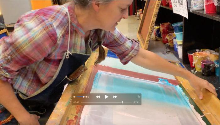 Kathy McGhee silkscreen printing