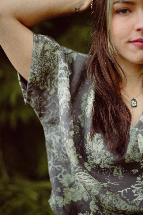Solstice Handmade Lichen pattern shirt