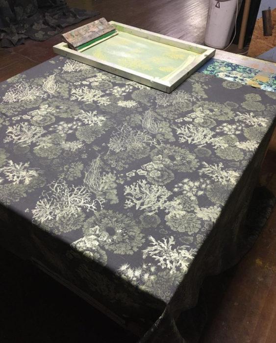 Solstice Handmade Lichen pattern textile