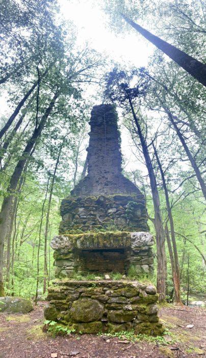 GSMNP stone chimney