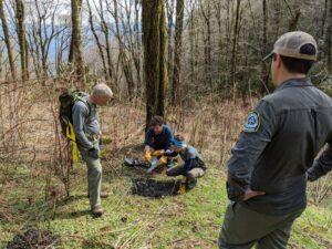Ridgerunners dismantle illegal fire ring