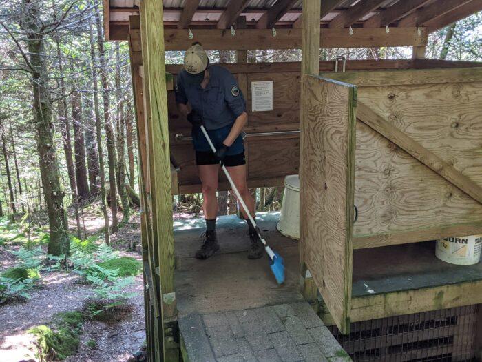 Ridgerunner sweeps privy