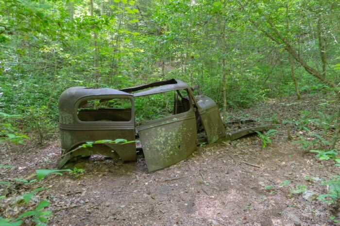 abandoned car in GSMNP