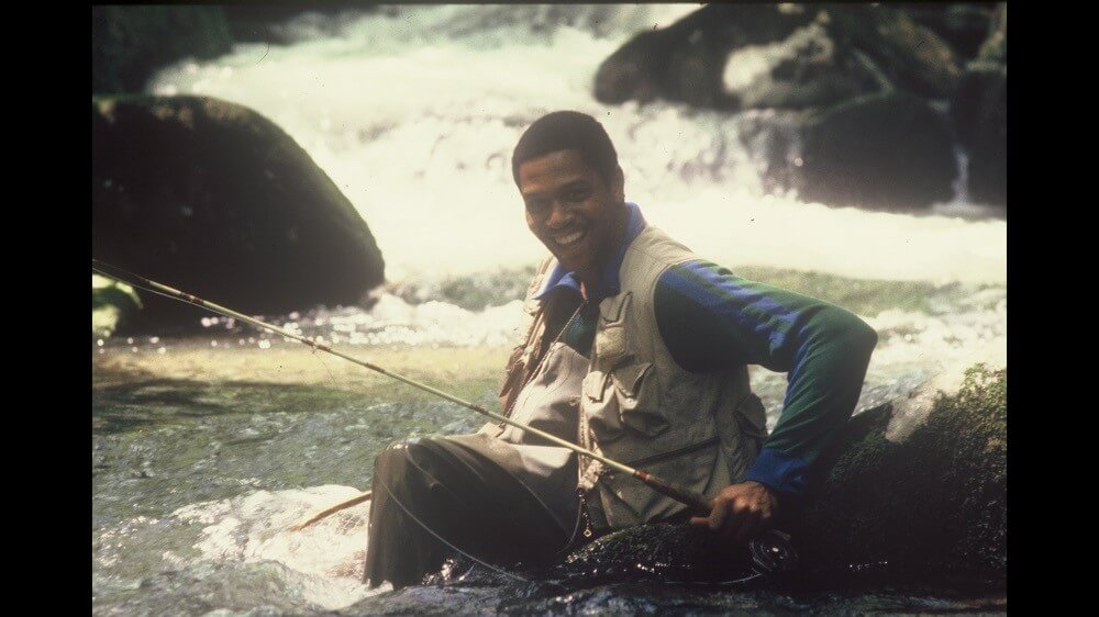 Ron Davis Sr. fishing in Smokies